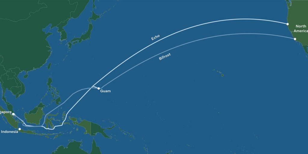 فیسبوک و گوگل برای اتصال آمریکای شمالی به جنوب شرق آسیا با کابل زیردریایی